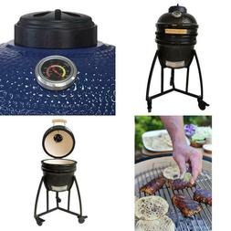 15 In. Kamado Ceramic Grill And Smoker Value Bundle With Cov