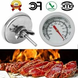 1xStainless Steel Barbecue BBQ Smoker Grill Thermometer Temp