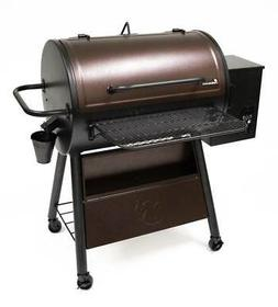 29.5 in. Pellet Grill and Smoker in Hammertone Brown and Bla