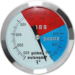 3 1/8 Inch Barbecue Charcoal Grill Smoker Temperature Gauge