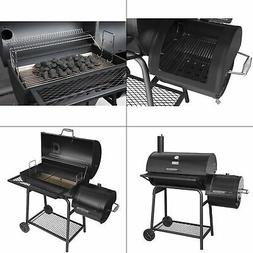 30 in. charcoal grill with offset smoker | royal gourmet bla