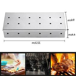 430 Stainless Steel BBQ Smoker Box for Grilling Barbecue Woo