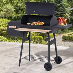 """Outsunny 48"""" Steel Portable Backyard Charcoal BBQ Grill and"""