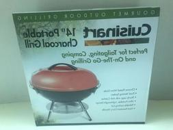Cuisinart Charcoal Grill 14 in. Portable Outdoor Bbq. Smoker