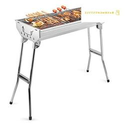 barbecue charcoal grill stainless steel folding portable