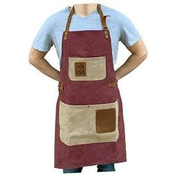BBQ Grill Apron - Adjustable Canvas Cooking Apron - XXL - He