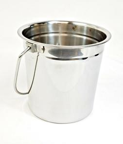 BBQ Grill Smoker Stainless Steel Grease Drip Bucket Pail - H