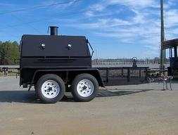 BBQ PIT SMOKER concession grill utility 5x12 trailer gas fry