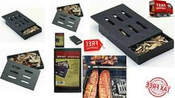 CAST IRON SMOKER CHIP BOX For GAS-CHARCOAL GRILLS BBQ WOOD A