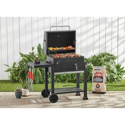 Charcoal BBQ Grill Cast-Iron Grates Camping Backyard Barbecu