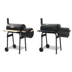 charcoal bbq offset smoker wheels outdoor patio