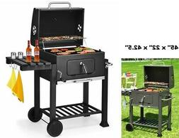 Charcoal Smoker Grill Outdoor Patio Barbecue BBQ Meat Cooker