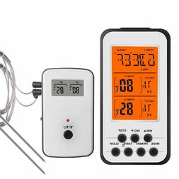 Digital Wireless Bbq Thermometer For Kitchen Oven Food Cooki