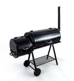 Dolls House Deluxe BBQ Barbeque Smoker Grill Miniature 1:12