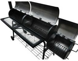 Giant Barbeque Smoker Patio BBQ Barrel Grill Meat Roast Grid