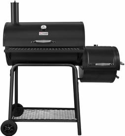 Royal Gourmet Charcoal Grill with Offset Smoker Black 800 Sq