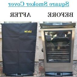 Square Smoker Cover Heavy Duty Outdoor Garden Home BBQ Grill