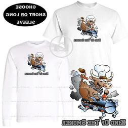 King Of The Smoker Grill Man Or Dad Beef Cow Custom T Shirt