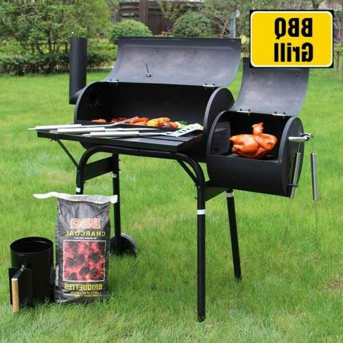48 steel portable backyard charcoal bbq grill