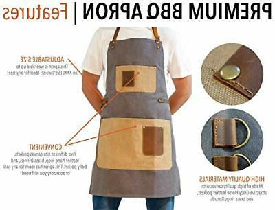BBQ Grill Adjustable Cooking Apron - XXL Duty