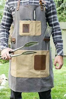 BBQ Adjustable Canvas Cooking Apron - Duty Smoker