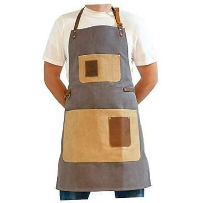 bbq grill apron adjustable canvas cooking apron