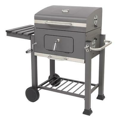 BBQ Grill Outdoor Smoker Picnic with 2 Wheels