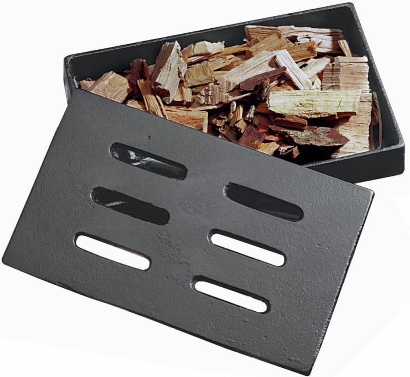 cast iron smoker box prevents wood from