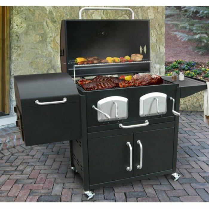 charcoal grill and smoker of the backyard