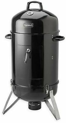 Charcoal Smoker Grill Vertical Steel Outdoor Grilling Adjust