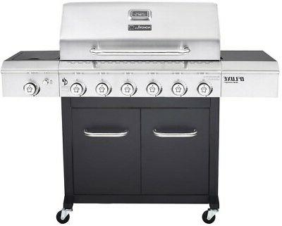 deluxe 6 burner propane gas grill in