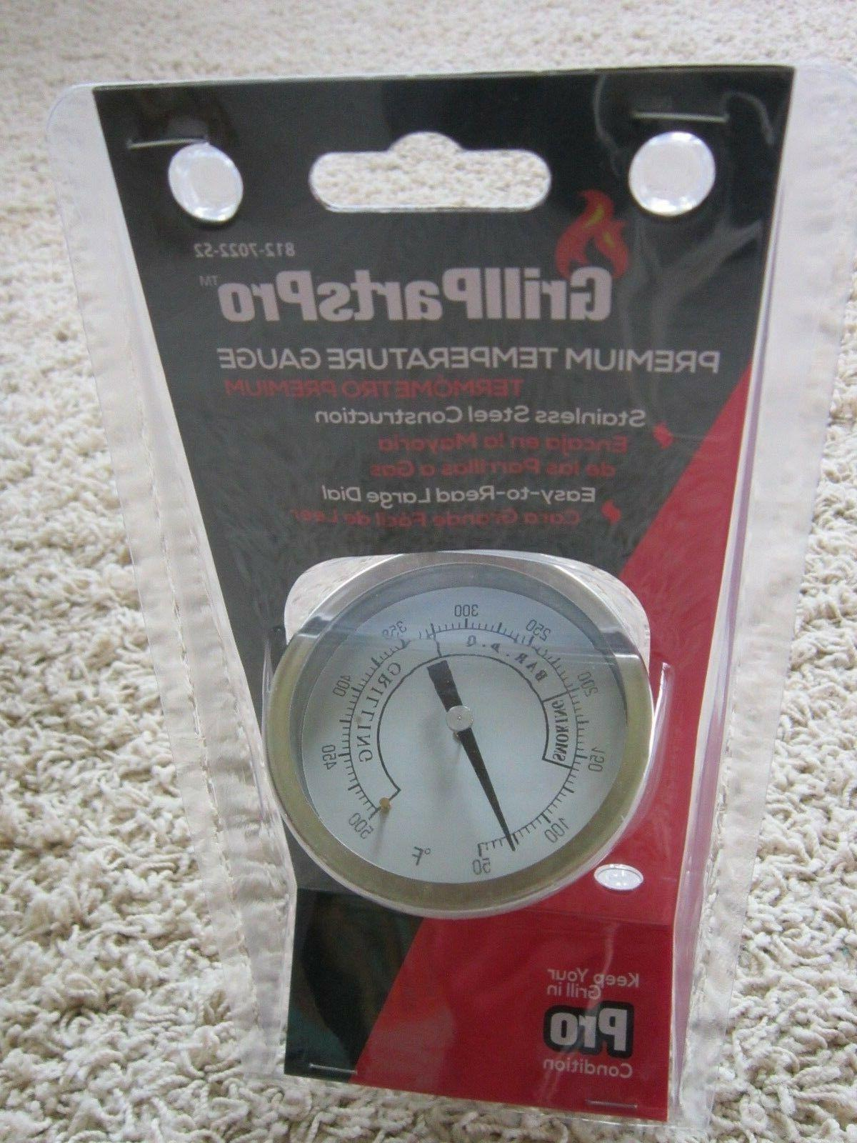grill smoker bbq stainless steel temperature gauge