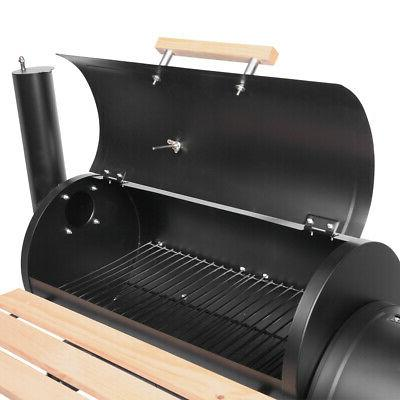 Steel Portable BBQ and Offset Smoker