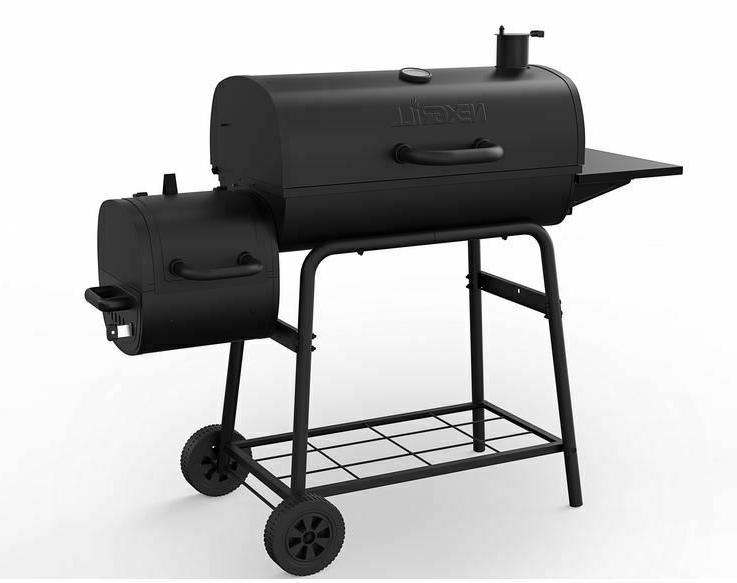 Grill Combo Charcoal Wood Offset BBQ Professional Outdoor