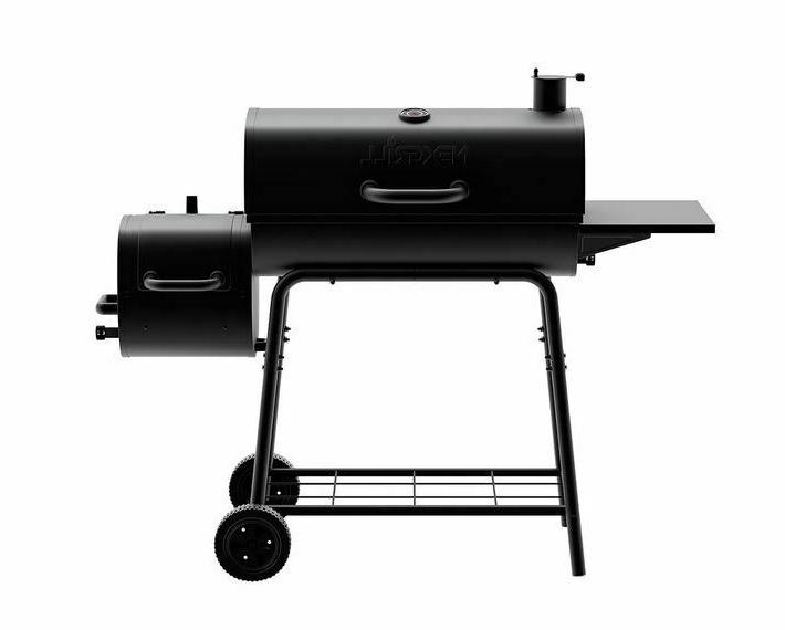 grill smoker combo charcoal wood offset barrel