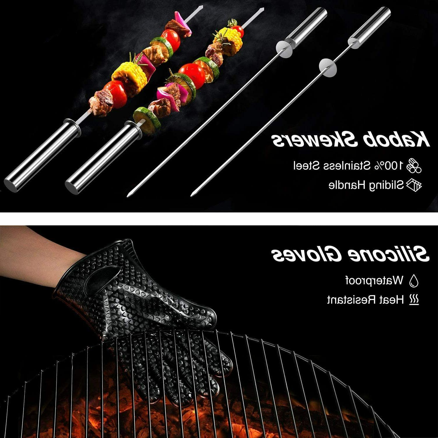 Grilling Accessories BBQ Tools Set Stainless Smoker