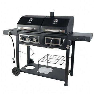 Heavy Duty Gas BBQ Barbecue Smoker Cooker