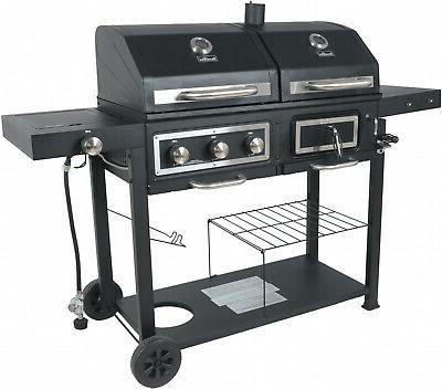Heavy Duty Gas Charcoal BBQ Cooker