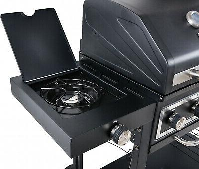 Heavy Duty Dual Gas Charcoal BBQ Barbecue Cooker
