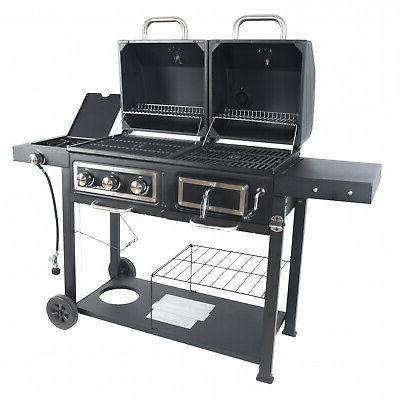 heavy duty dual fuel gas charcoal combo