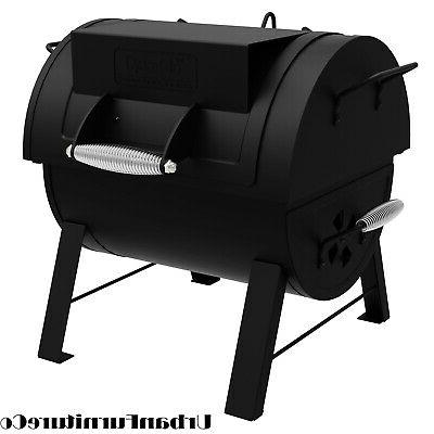 portable tabletop charcoal grill smoker bbq side