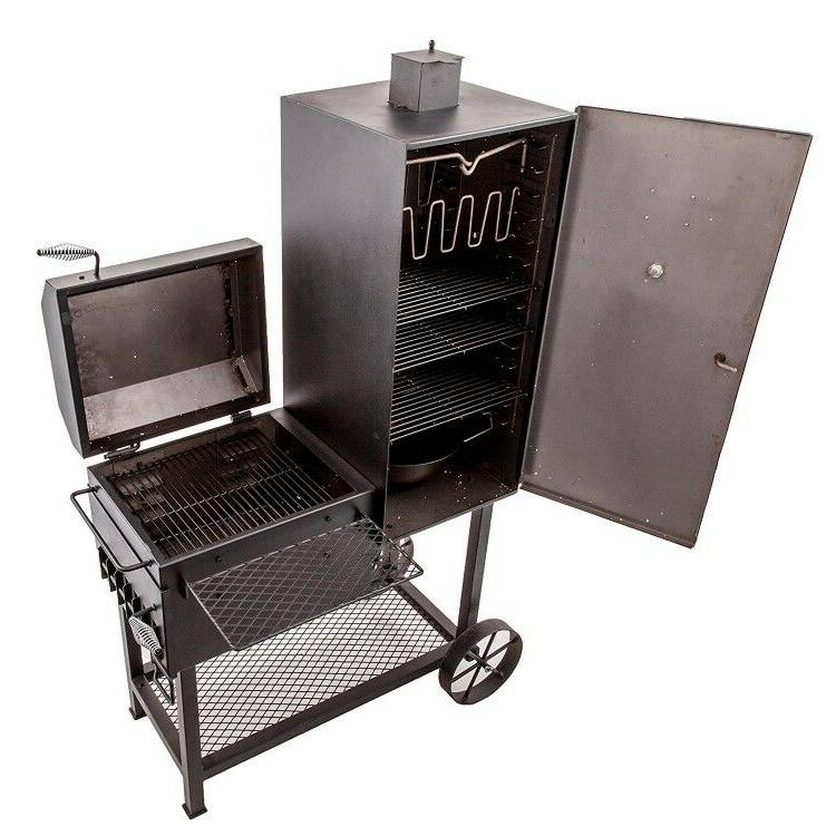 smoker charcoal wood chips 36 wide body