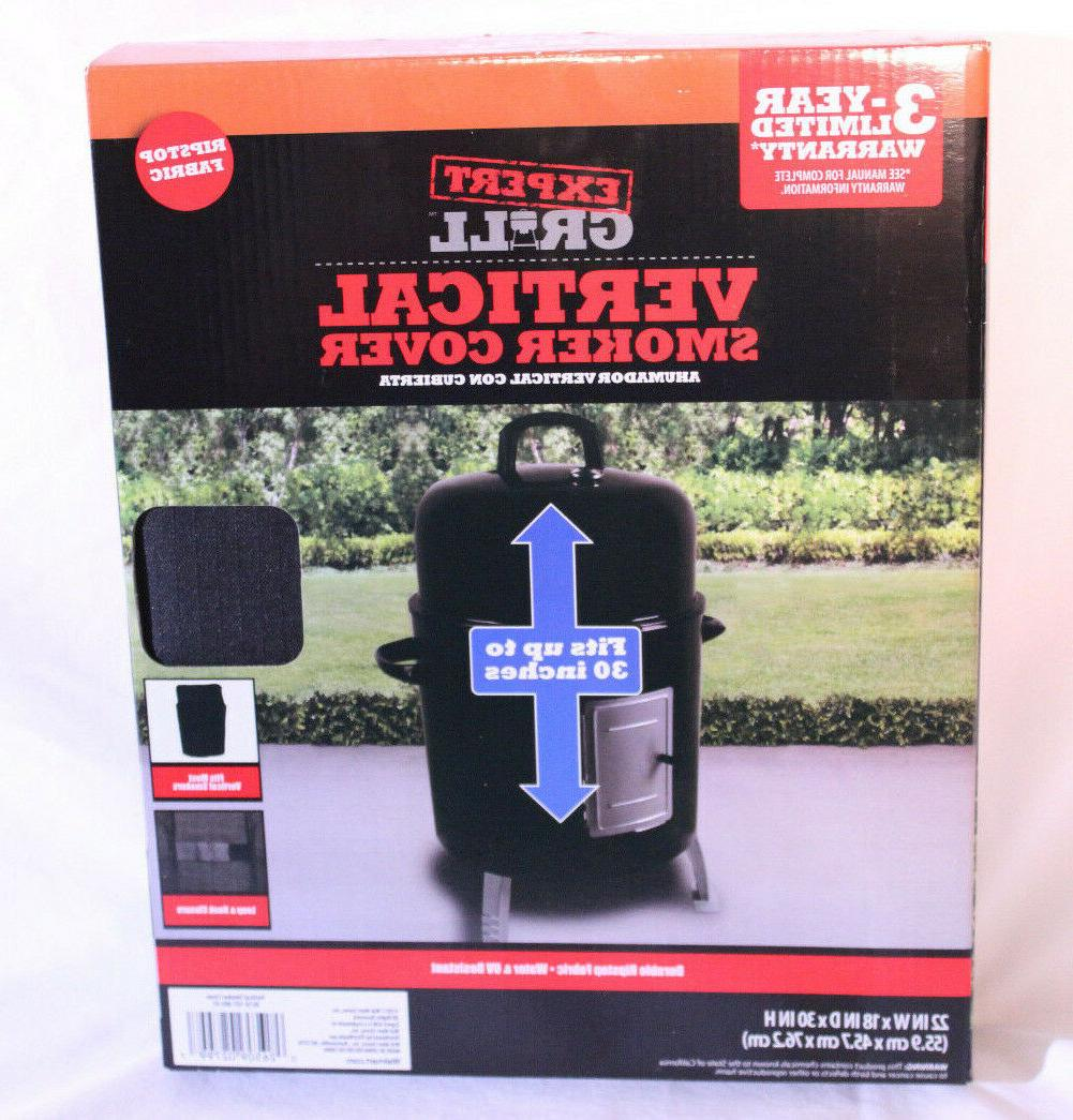 vertical smoker cover black fits most verticle