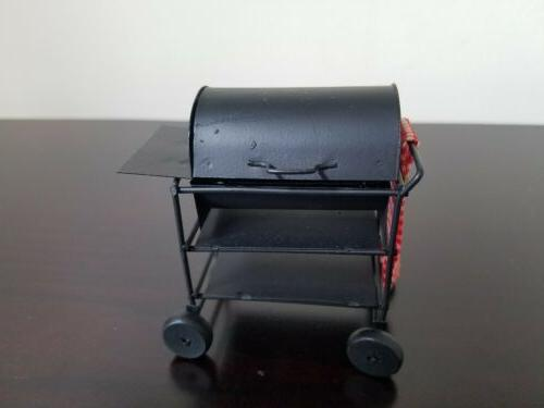 vintage dollhouse miniature bbq barbeque smoker grill