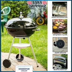 """Large Charcoal BBQ Grill 22"""" Barbecue Meat Cooker Outdoor Wh"""