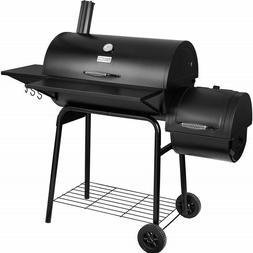 Large Charcoal Grill with Offset Smoker Backyard BBQ Camping