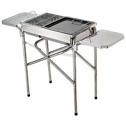 Outsunny Portable BBQ Grill Kebab Barbecue Charcoal Stainles