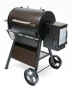 pellet grill and smoker in hammertone brown