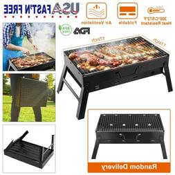 Portable BBQ Barbecue Grill Smoker Folding Charcoal Stove Ou