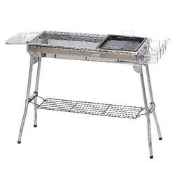 Portable BBQ Grill Charcoal Folding Stainless Steel Camp Pic